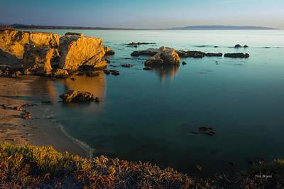 Photograph - Golden Glow - Shell Beach by Tim Bryan