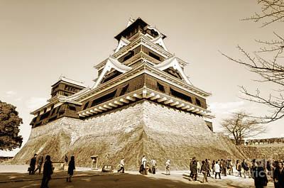 Photograph - Golden Glow - Kumamoto Castle - Kyushu - Japan by David Hill