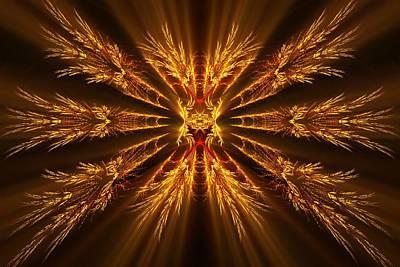 Digital Art - Golden Glow by Sandy Keeton