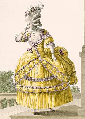 Aristocrat Drawing - Golden Gown, Engraved By Dupin, Plate by Pierre Thomas Le Clerc
