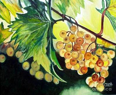 Painting - Golden Grapes by Julie Brugh Riffey