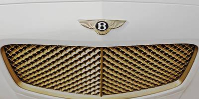 Golden Grill Bentley Art Print by Maj Seda