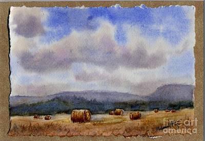 Hayfield Painting - Golden Harvest by Mohamed Hirji