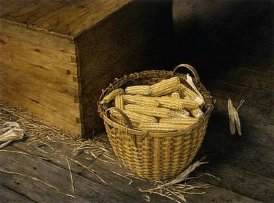 Golden Harvest Art Print by Tom Wooldridge