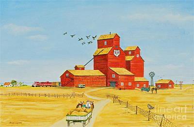 Golden Harvest Art Print by Virginia Ann Hemingson