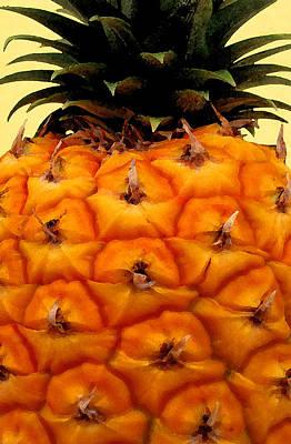 Golden Hawaiian Pineapple Art Print by James Temple