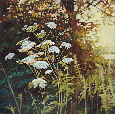 Painting - Golden Hedgerows II by Helen White