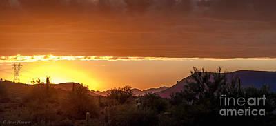 Landscape Photograph - Golden Hills by Arne Hansen