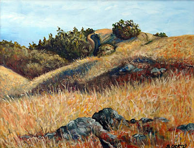 Painting - Golden Hills by Barbara Oertli