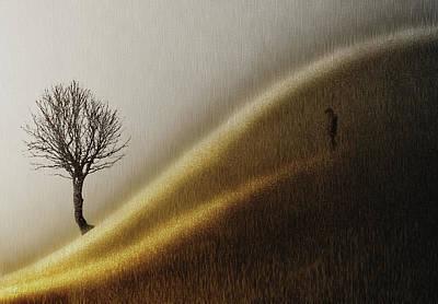Frost Photograph - Golden Hills by Helge Andersen