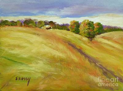 Painting - Golden Hills by Sally Simon