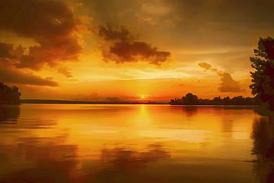 Golden Honey Sunset Art Print