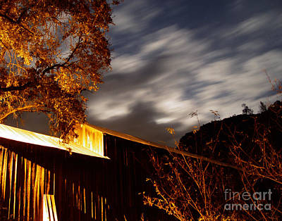 Photograph - Golden Honeyrun Covered Bridge by Peter Piatt