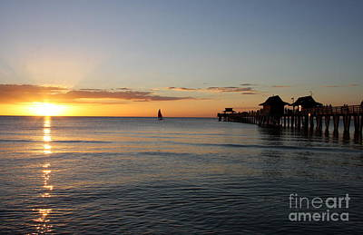 Photograph - Golden Hour At Naples Pier by Christiane Schulze Art And Photography