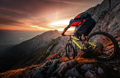 Golden Hour High Alpine Ride Art Print