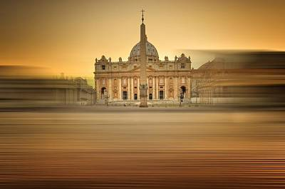 Golden Hour In Vatican  Art Print by Ettore Mongelli