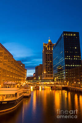 Golden Hour Milwaukee River Art Print