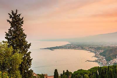 Photograph - Golden Hour Of The Sicily Coast by Gurgen Bakhshetsyan
