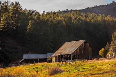 Golden Hour On Colorado Barn Art Print