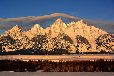 Photograph - Golden Hour Tetons by Raymond Salani III
