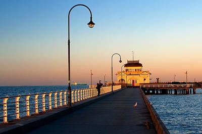 St.kilda Photograph - Golden Hour@st. Kilda Pier by Mukesh Srivastava