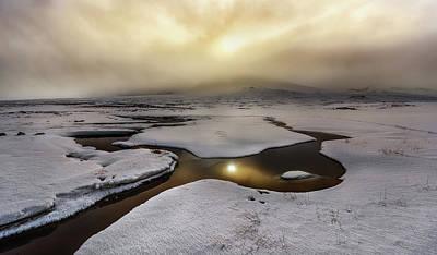 Ice Cold Photograph - Golden Iceland by Javier De La
