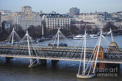 Photograph - Golden Jubilee Bridge London by Deborah Smolinske