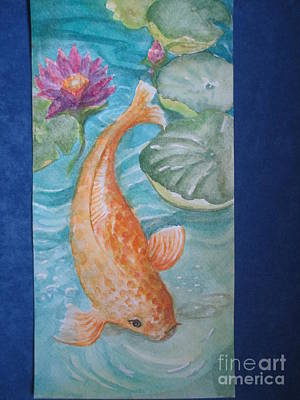 Painting - Golden Koi by Lynn Maverick Denzer