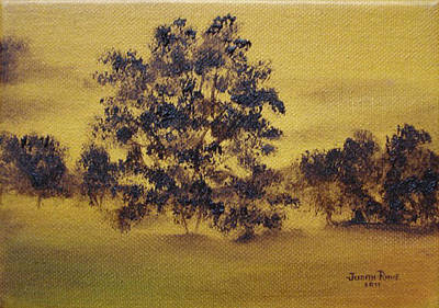 Painting - Golden Landscape by Judith Rhue
