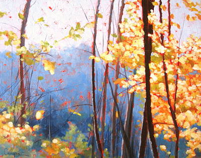 Golden Leaves Art Print by Carlynne Hershberger
