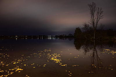 Photograph - Golden Leaves On Lake Wausau by Dale Kauzlaric