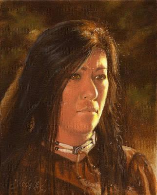 Portrait Painting - Golden Light by James Loveless