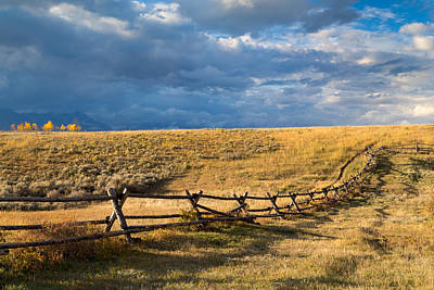 Photograph - Golden Light On A Stormy Prairie by Kathleen Bishop