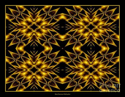 Photograph - Golden Lights Abstract 9 by Rose Santuci-Sofranko