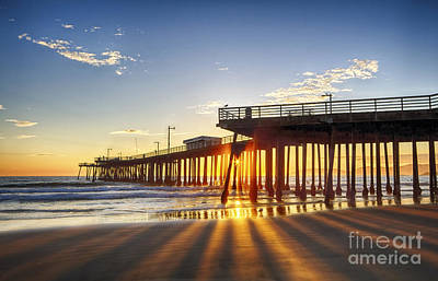Photograph - Golden Lightshow by Beth Sargent