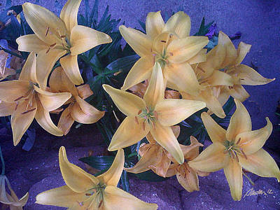Painting - Golden Lilies by Jim Pavelle