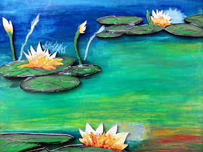Golden Lillies Art Print