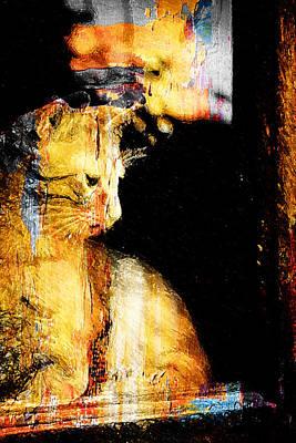 Cool Lion Digital Art - Golden Lionet by Andrea Barbieri