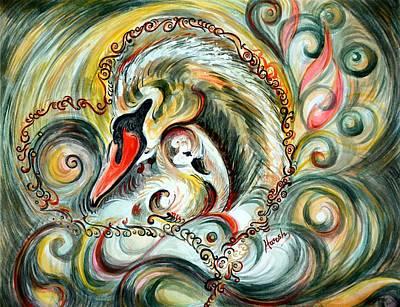 Parvati Painting - Golden Love by Harsh Malik