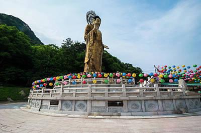 Golden Maitreya Statue, Beopjusa Temple Art Print by Michael Runkel