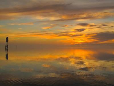 Photograph - Golden Marble Sky by Suzy Piatt
