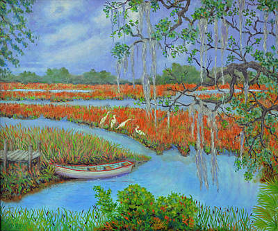 Golden Marsh 2 Art Print by Dwain Ray