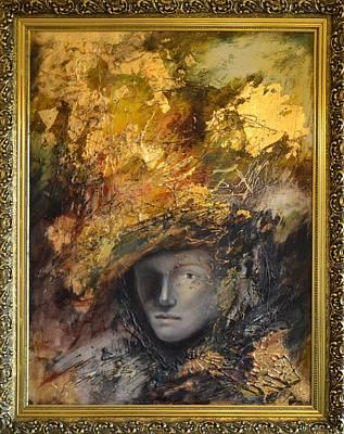 Golden Mask By Mihaela Ghit Art Print by Mihaela Ghit