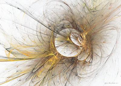 Lyrical Digital Art - Golden Memories by Sipo Liimatainen
