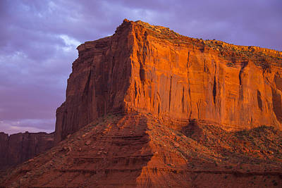Photograph - Golden Mesa Monument Valley by Garry Gay