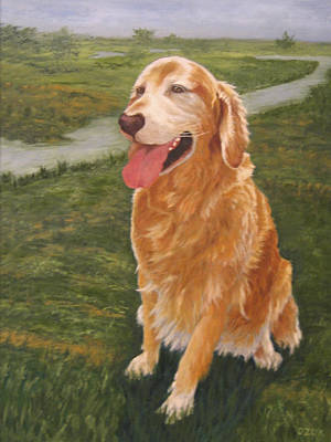 Painting - Golden Mollie by Karen Zuk Rosenblatt
