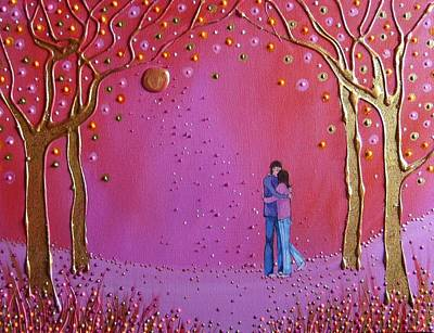 Couple Mixed Media - Golden Moment by Angie Livingstone