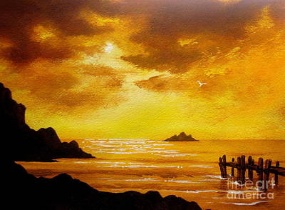Painting - Golden   Moments  by Shasta Eone