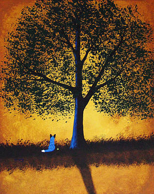 Blue Heeler Painting - Golden Moments by Todd Young
