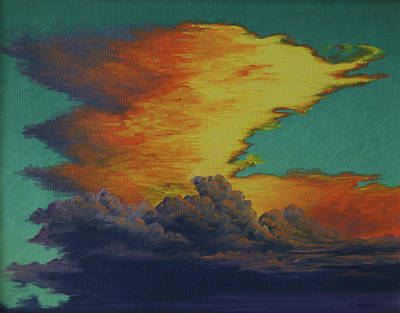 Painting - Golden Monsoon by Cheryl Fecht